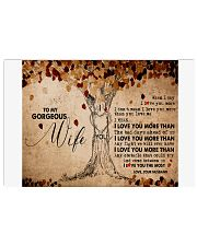 TO MY GORGEOUS WIFE B01 17x11 Poster front