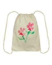 Dog - Flower 01 Drawstring Bag thumbnail