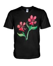 Dog - Flower 01 V-Neck T-Shirt thumbnail