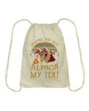 Camping you stay -  Alpaca my tent Drawstring Bag thumbnail