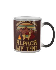 Camping you stay -  Alpaca my tent Color Changing Mug thumbnail