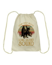 Camp half blood-Long island sound Drawstring Bag thumbnail