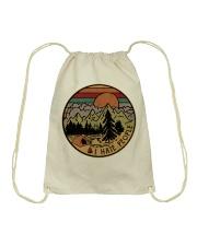 I hate people camping hiking Drawstring Bag thumbnail