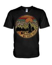 I hate people camping hiking V-Neck T-Shirt thumbnail