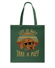 Life Is Ruff Take A Puff Sunset Retro Dog Tote Bag thumbnail