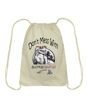 Don't mess with auntasaurus Drawstring Bag tile