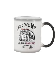 Don't mess with auntasaurus Color Changing Mug tile