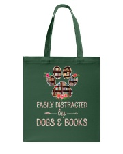 Easily Distracted By Dogs And Books Tote Bag thumbnail