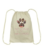 Easily Distracted By Dogs And Books Drawstring Bag thumbnail