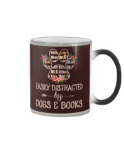 Easily Distracted By Dogs And Books Color Changing Mug thumbnail