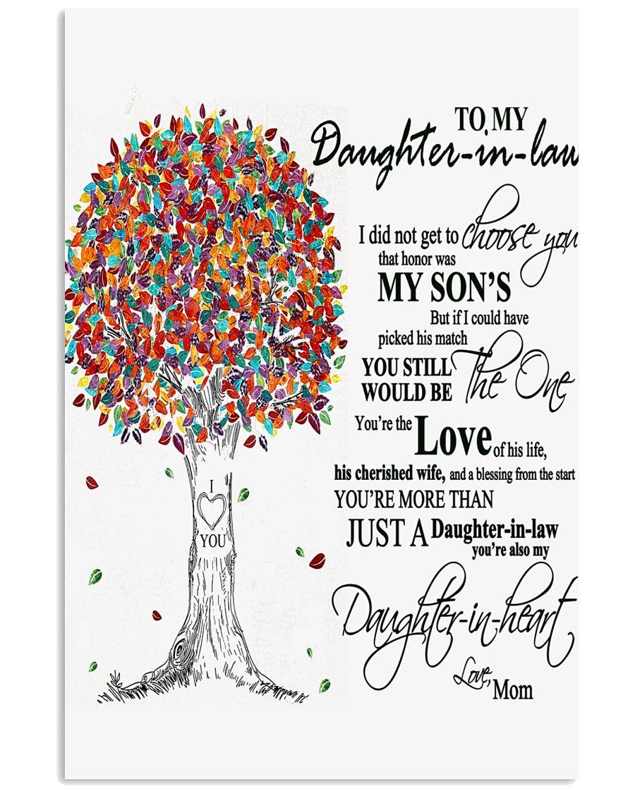 TO MY DAUGHTER IN LAW B02 11x17 Poster