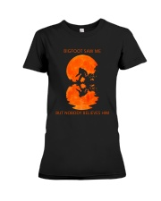 Bigfoot saw me Premium Fit Ladies Tee thumbnail