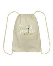 DON'T FORGET TO SMILE EVERYDAY Drawstring Bag thumbnail