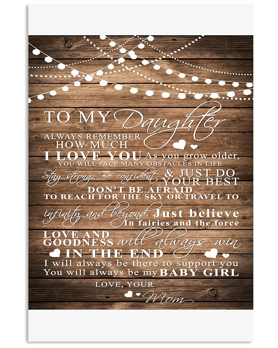 TO MY DAUGHTER B03 11x17 Poster