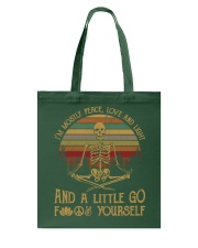 I am mostly peace love and light Tote Bag thumbnail