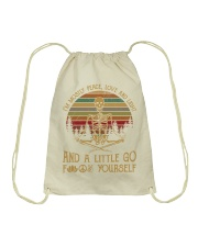 I am mostly peace love and light Drawstring Bag thumbnail