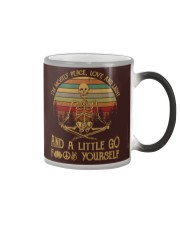 I am mostly peace love and light Color Changing Mug thumbnail