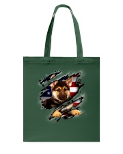 German Shepherd Flag America Tote Bag thumbnail