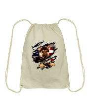 German Shepherd Flag America Drawstring Bag thumbnail