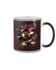 German Shepherd Flag America Color Changing Mug thumbnail