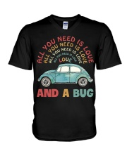 All you need is love and a bug V-Neck T-Shirt thumbnail