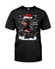 Dachshund Christmas Premium Fit Mens Tee thumbnail