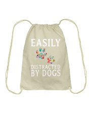 Easily - Dogs - Distracted Drawstring Bag thumbnail