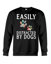 Easily - Dogs - Distracted Crewneck Sweatshirt thumbnail