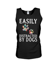 Easily - Dogs - Distracted Unisex Tank thumbnail