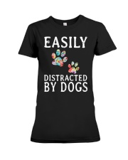 Easily - Dogs - Distracted Premium Fit Ladies Tee thumbnail