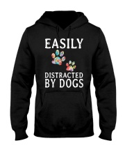 Easily - Dogs - Distracted Hooded Sweatshirt thumbnail