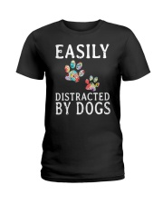Easily - Dogs - Distracted Ladies T-Shirt thumbnail
