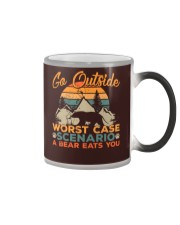 Go outside - Worst case scenario - a bear eats you Color Changing Mug thumbnail