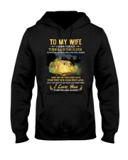 To My Wife - I Love You Hooded Sweatshirt thumbnail