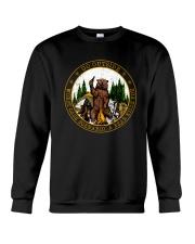 Go ouside - A bear kills you Crewneck Sweatshirt thumbnail