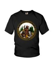 Go ouside - A bear kills you Youth T-Shirt thumbnail