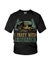 I party with sasquatch Youth T-Shirt thumbnail