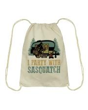 I party with sasquatch Drawstring Bag thumbnail