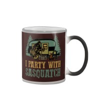 I party with sasquatch Color Changing Mug thumbnail