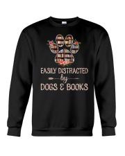 Dog - Books - Easily Crewneck Sweatshirt thumbnail