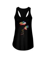 Let It Be Flowers Ladies Flowy Tank thumbnail