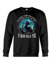 Go ouside - A bear kills you 3 Crewneck Sweatshirt thumbnail