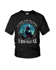 Go ouside - A bear kills you 3 Youth T-Shirt thumbnail