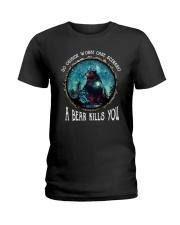 Go ouside - A bear kills you 3 Ladies T-Shirt thumbnail