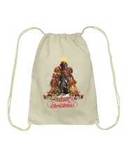 Dogs - Merry Christmas Drawstring Bag thumbnail