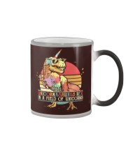 Be a unicornasaurus rex in a field of unicorns Color Changing Mug thumbnail