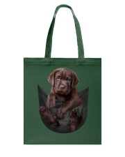 Chocalate Labrador In Pocket Tote Bag thumbnail