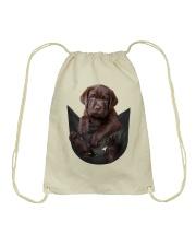Chocalate Labrador In Pocket Drawstring Bag thumbnail