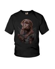 Chocalate Labrador In Pocket Youth T-Shirt thumbnail