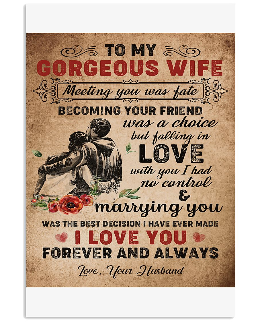 TO MY GORGEOUS WIFE B02 11x17 Poster